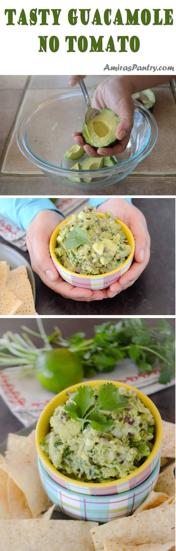 How do you make guacamole dip ? This is a tasty guacamole recipe that is adaptable to your liking. Rich, chunky with an amplified flavors. #avocado #guacamole #guac | amiraspantry.com