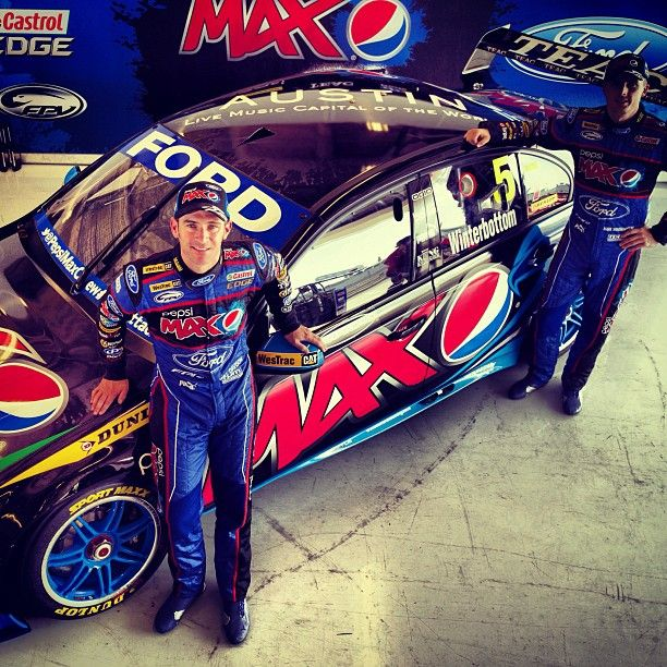The Austin Pepsi Max V8 Supercar with drivers Will Davison and Mark  Winterbottom