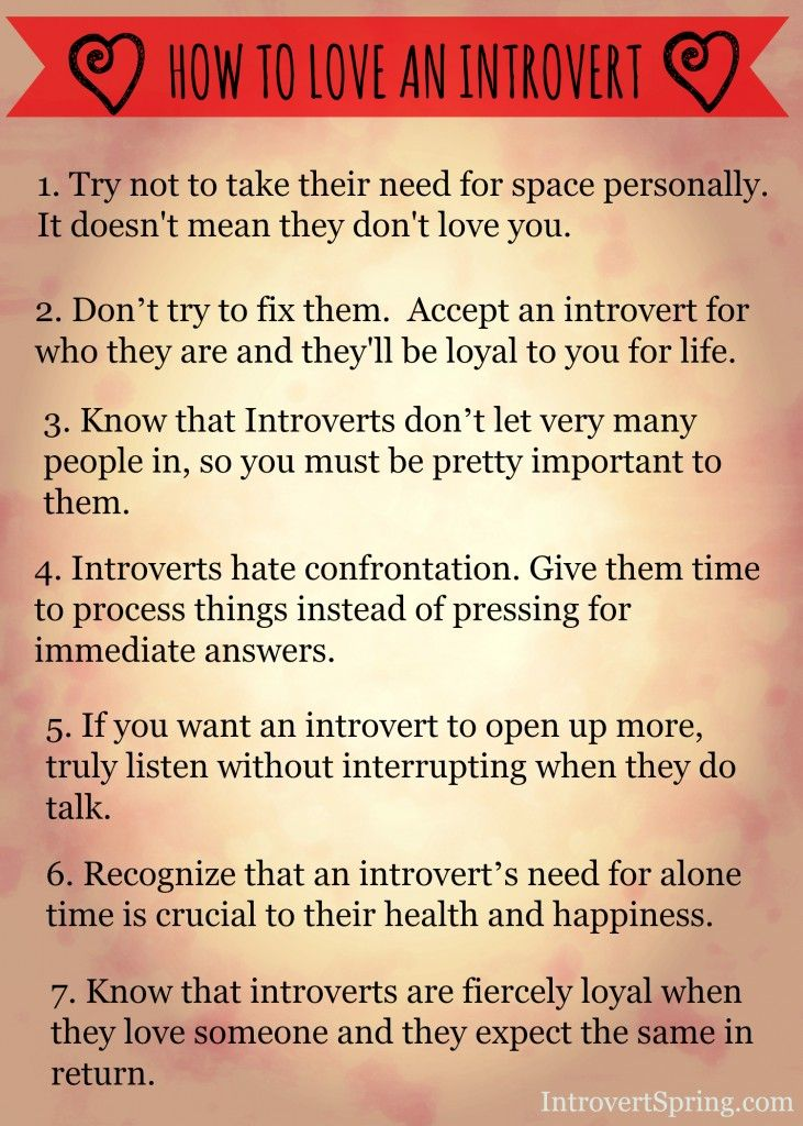 dating an introvert when you are an introvert Here are 14 things about being an introvert that can help you understand what it means to be one, or that will sound familiar if you are one yourself.
