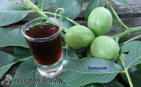 Zöld dió pálinka recept fotóval
