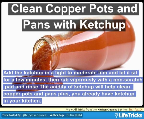 how to clean copper pots