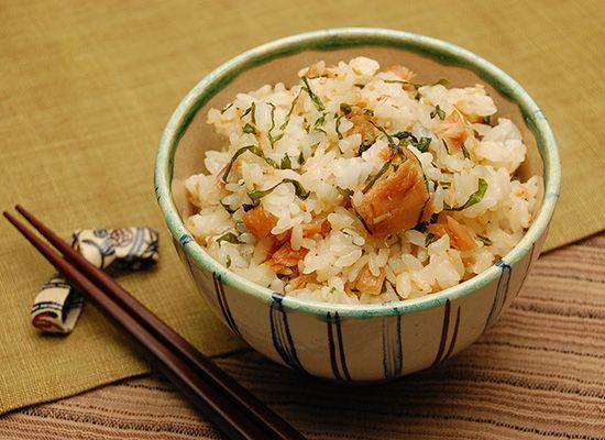 大葉とツナの混ぜご飯