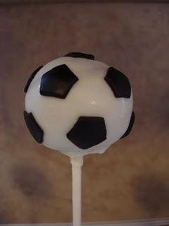 Soccer ball cake pop