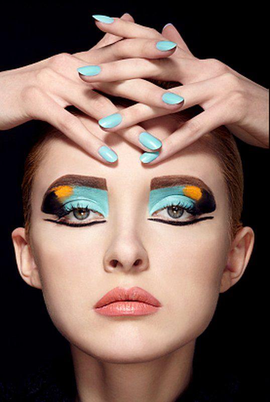 Mykel Renner | Makeup Portfolios | color block make up