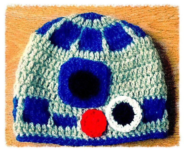 Star Wars Inspired Handmade R2D2 Baby Hat, 0-3 months, Baby Gift,