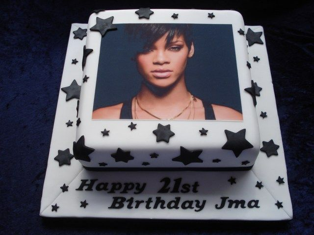 Wondrous 20 Pretty Photo Of Birthday Cake Rihanna Rihanna Birthday Cake Funny Birthday Cards Online Fluifree Goldxyz