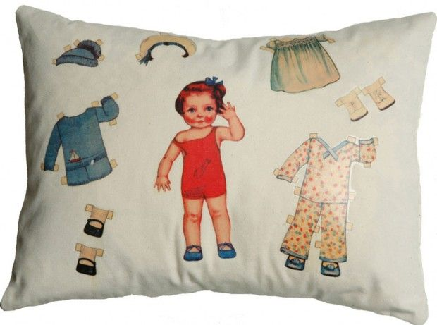 Classic Style Cushion Design for Kids and Children Room, Vintage ...