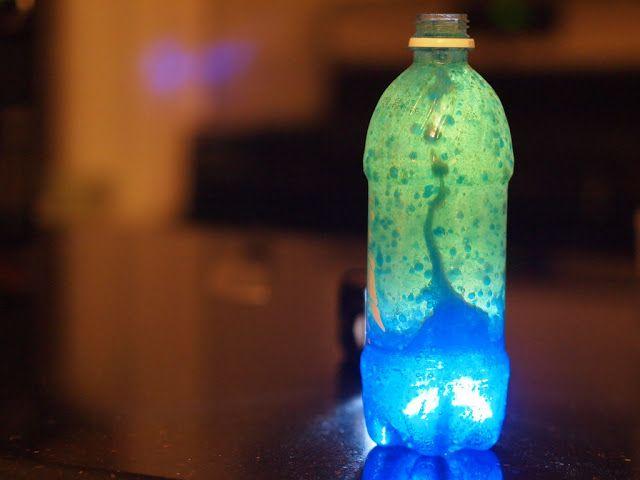 Lava-lampe maison pour scientifique en devenir