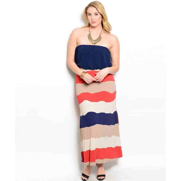 PRE-ORDER - NAVY RUST IVORY PLUS SIZE DRESS $52.00 http://www.curvyclothing.com.au/index.php?route=product/product&path=95_101&product_id=8703&limit=100