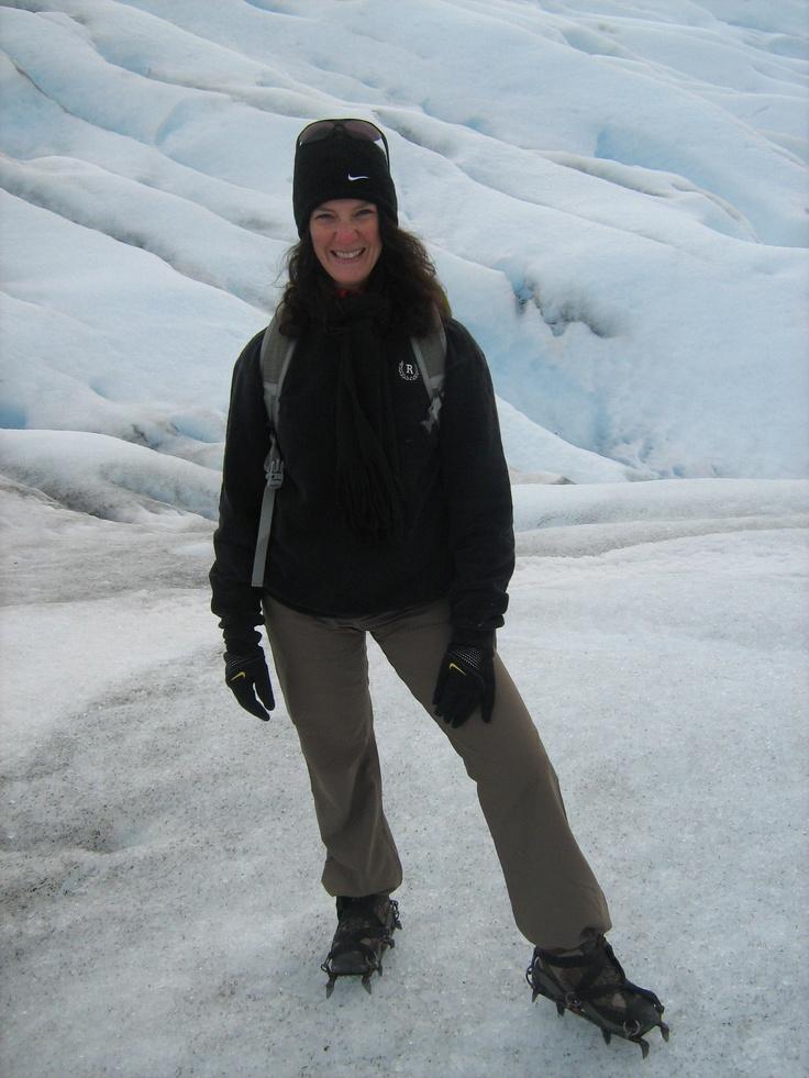 Treking the Perito Moreno Glacier using my crampons.