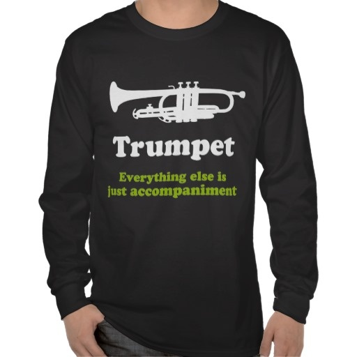Funny Trumpet Player Tee Shirts
