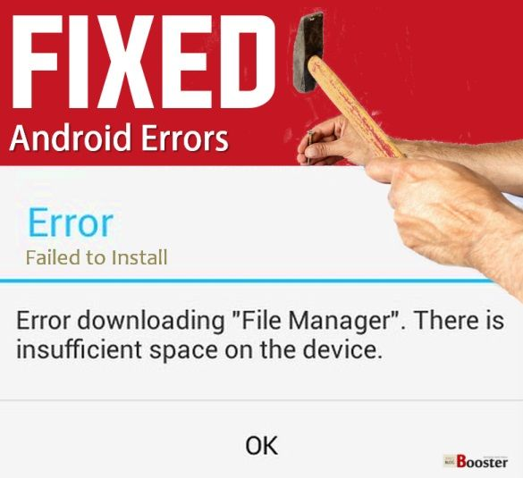 """Fixing """"Error Downloading... Insufficient Space on the Device"""" Error 2016 - My phone says insufficient storage but I have space. How to solve this Android error which may occur on any Android devices. Lots of Android users facing the issues like there is insufficient space to complete operation on the device android market to fix this error even available plenty of space."""
