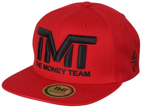 The Money Team TMT Floyd Mayweather Courtside Snapback Hat (Red/Black)