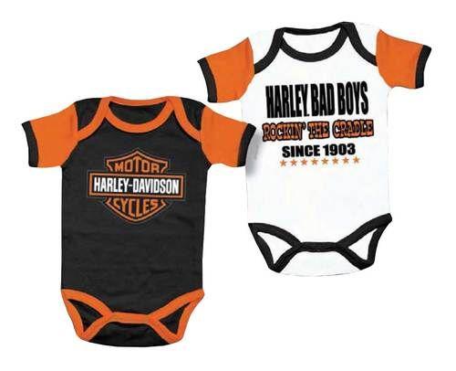 Harley-Davidson Baby Boy/'s Newborn 3 Piece Creeper
