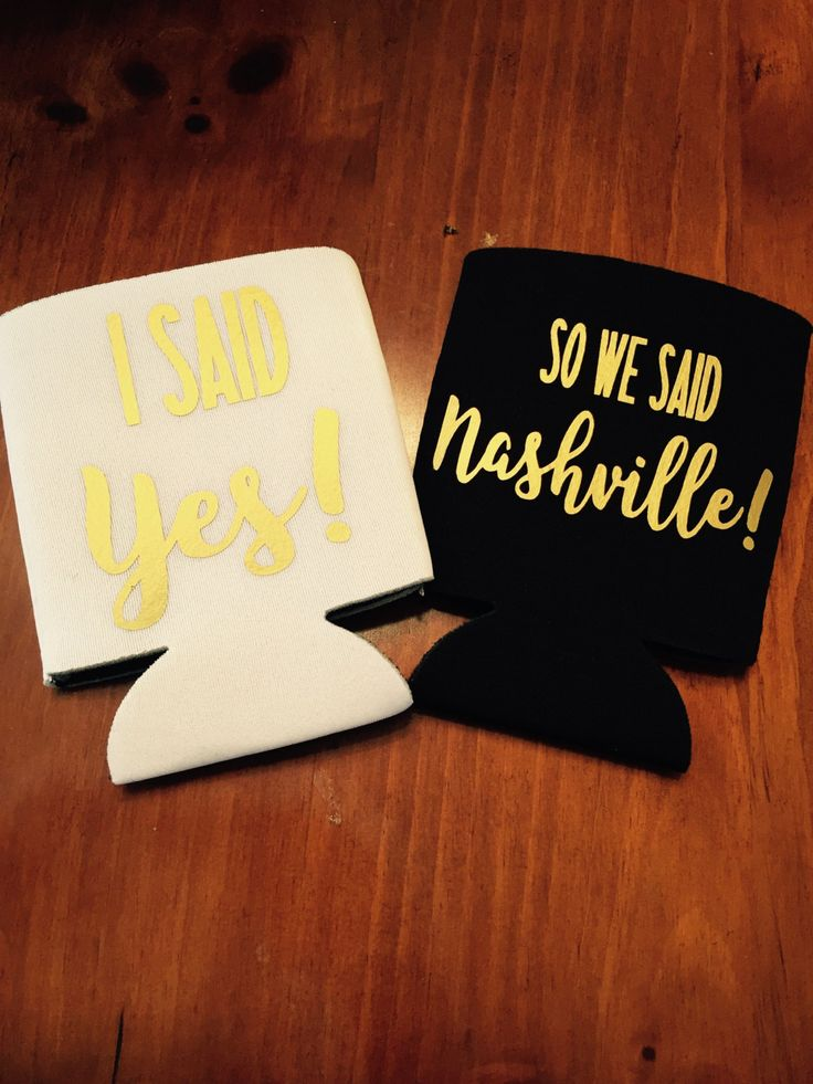 I said yes so we said nashville bachelorette party can coolers / nashville bachelorette party / bachelorette party favors / fast shipping by TheBridesLastBash on Etsy