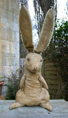 """Vintage antique Farnell Wilfred Rabbit, c.1925.  Based on the 1920's cartoon strip named, """"Pip, Squeak, & Wilfred Rabbit""""."""