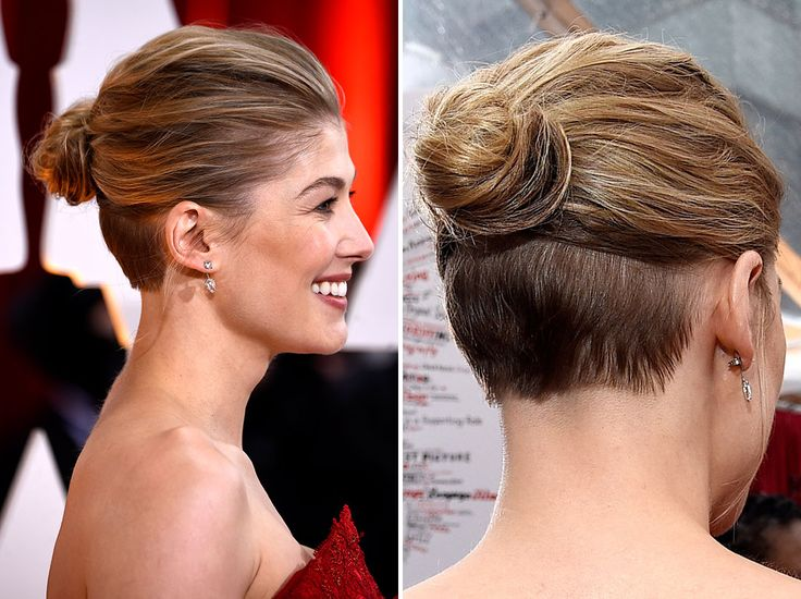We joked about doing this to my hair to cut down on the thickness... now it's red carpet approved