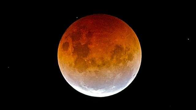 The Blood Moon 8 October 2014. Janet and Paul Boocock took this picture in Kaikoura, New Zealand.