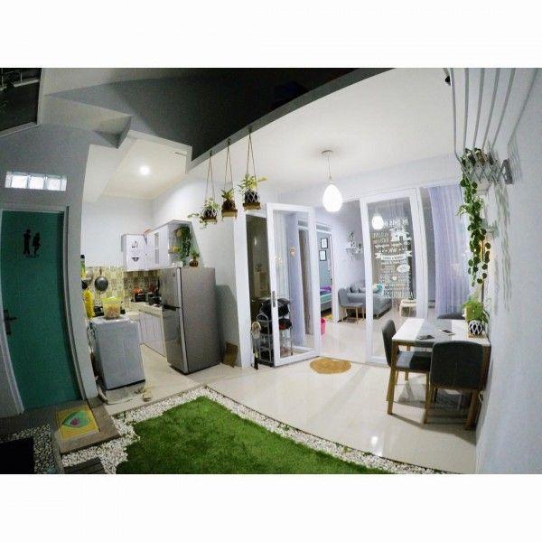 Desain Rumah Unik Tipe 45 Meski Mungil Ada Indoor Garden Home