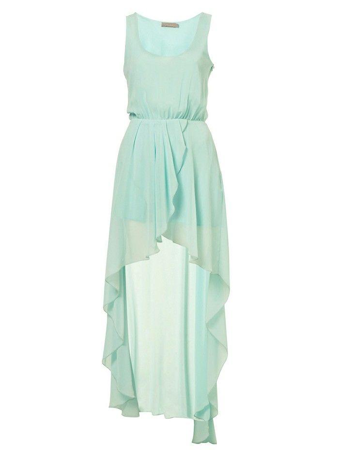 Exclusivo de ultra alta gama personalizada de lino menta del vestido del chaleco vestido de hada verde la cola de pato de cuello