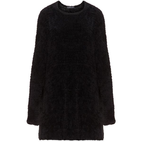 Barbara Speer Black Plus Size Fluffy oversized jumper ($240) ❤ liked on Polyvore featuring tops, sweaters, black, plus size, womens plus tops, plus size long sweaters, plus size jumpers, long sleeve sweater and oversized sweater