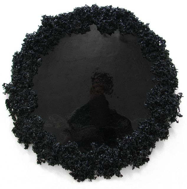 Michal Smandek, Mirror, 2012, sculpture (tarr)