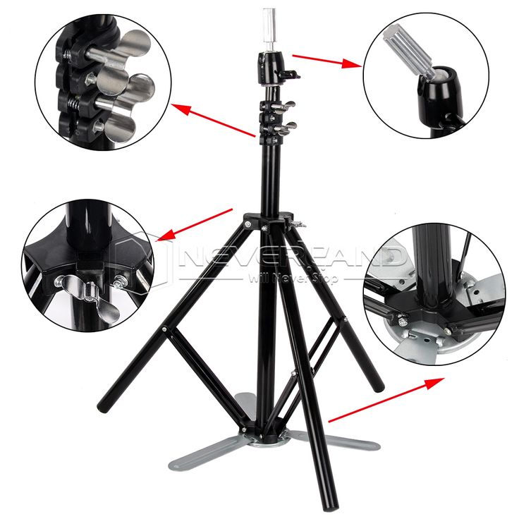 Adjustable Mannequin Holder Cosmetology lron Stand Salon College Training Head Tripod Stand  + Bag Free EMS Shipping