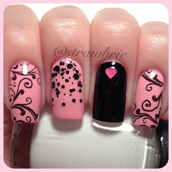 October Nail Art: 468 Best Images About Pink For October (Nails Art) On