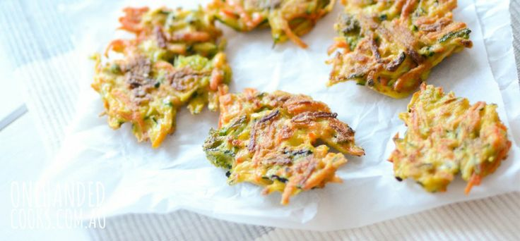 Veggie fritter recipe for the dude.  Need to try more finger food recipes as he has decided that he no longer wants to be spoon fed!