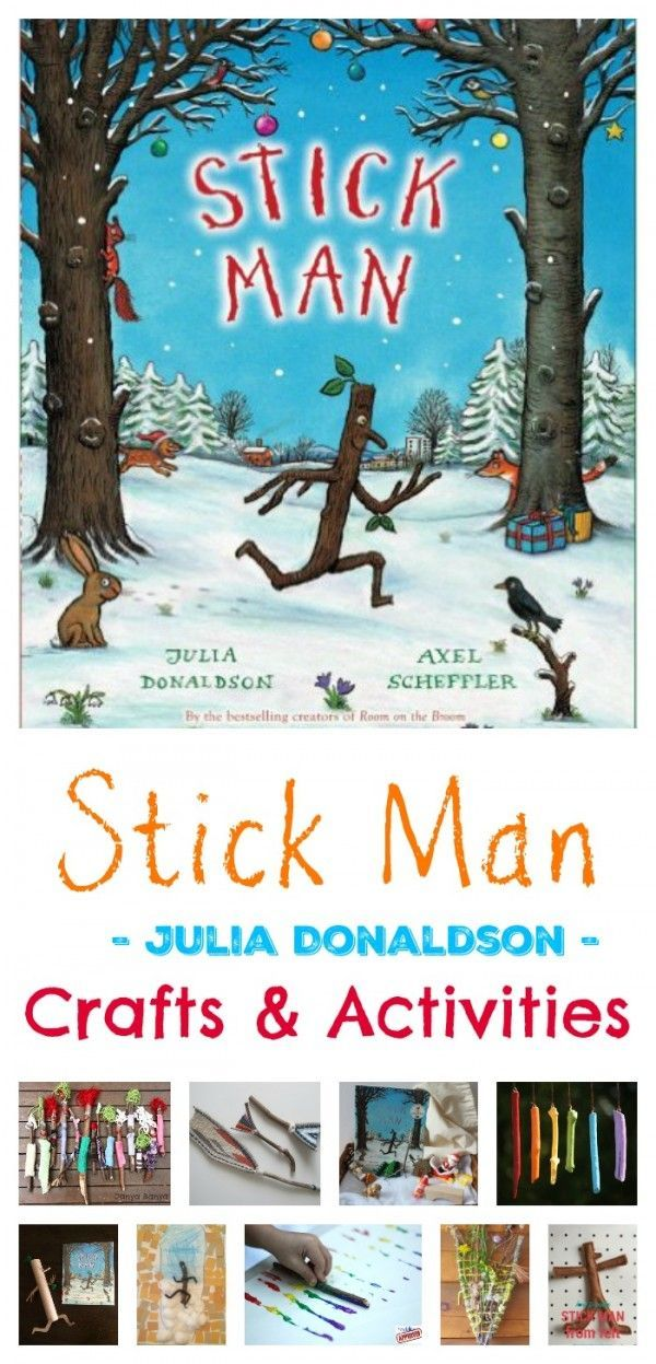20 Stick Man Ideas - Crafts and Activities, Art and Play.