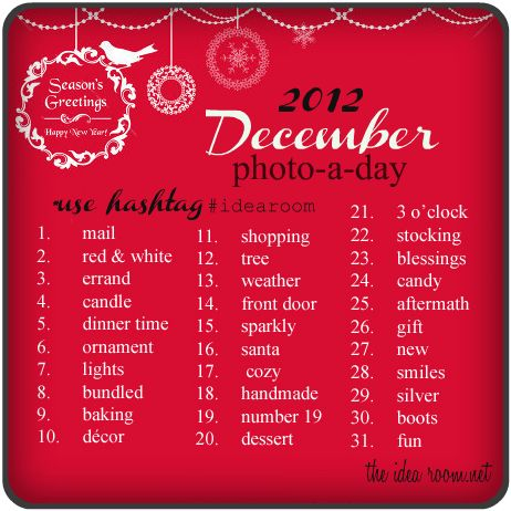 December Photo-A-Day Challenge # idea room