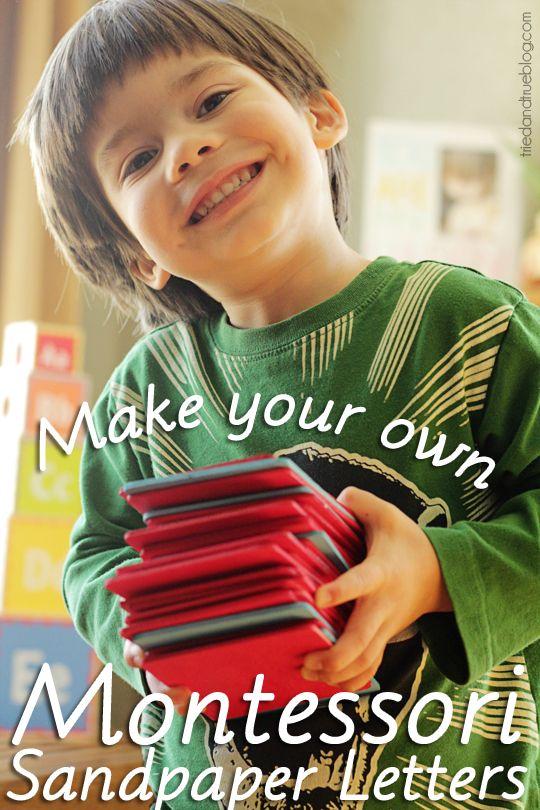 Make Your Own Montessori Sandpaper Letters