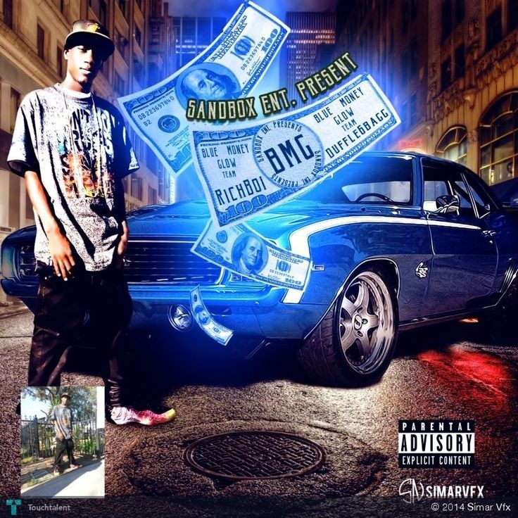 BMG(blue glow money) mixtape cover done by simarvfx #Creative #Art #Design @touchtalent.com