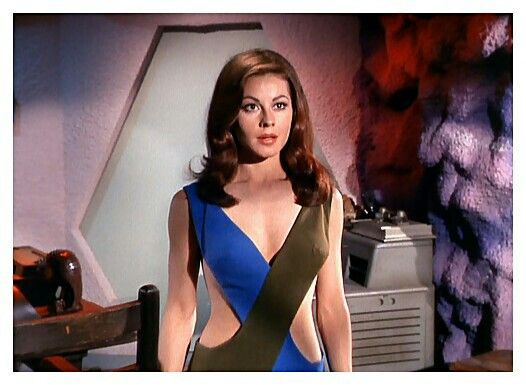 """The women of Star Trek TV Series. Actres: Sherry Jackson, played the Android """"Andrea"""" in the original Star Trek."""