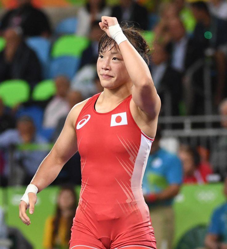 登坂絵莉が決勝進出 銀メダル以上確定 レスリング女子48キロ級 #リオ五輪