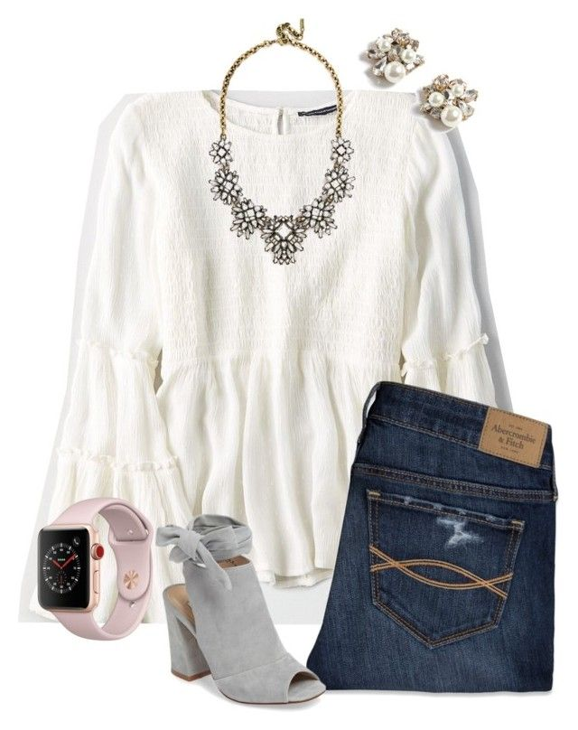 """Untitled #124"" by lhnlila on Polyvore featuring American Eagle Outfitters, Abercrombie & Fitch, J.Crew, BaubleBar, Kristin Cavallari and Apple"