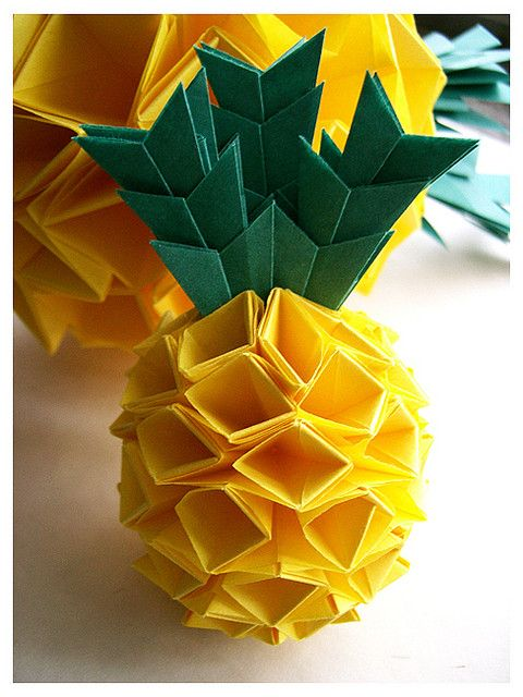 pineapple origami origami amp papercraft pinterest