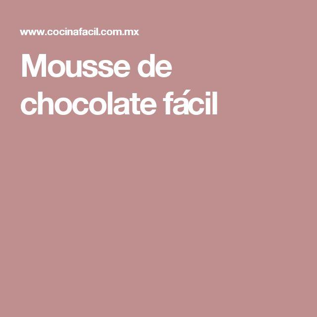 Mousse de chocolate fácil