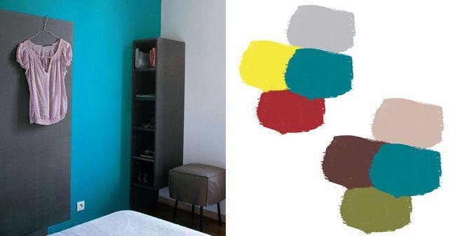 bleu canard les bonnes associations de couleurs palette de couleurs pinterest peinture. Black Bedroom Furniture Sets. Home Design Ideas