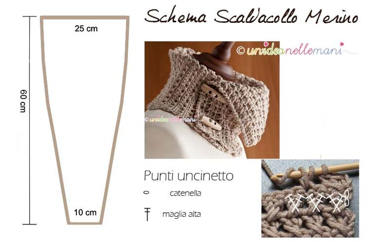 schema scaldacollo uncinetto