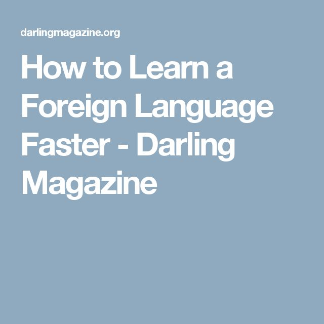 Learning a New Language at 50+, Foreign Language ... - AARP