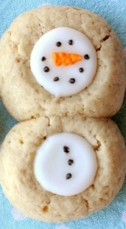 Thumbprint Snowman Cookies Christmas Food And Fun Snowman