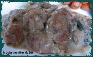 Le coin recettes de Jos: CASSEROLE DE VEAU AUX CHAMPIGNONS (MIJOTEUSE)