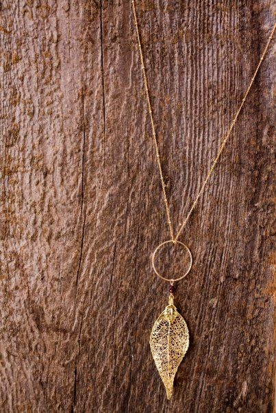 Gold Leaf Necklace - although I might like this more...