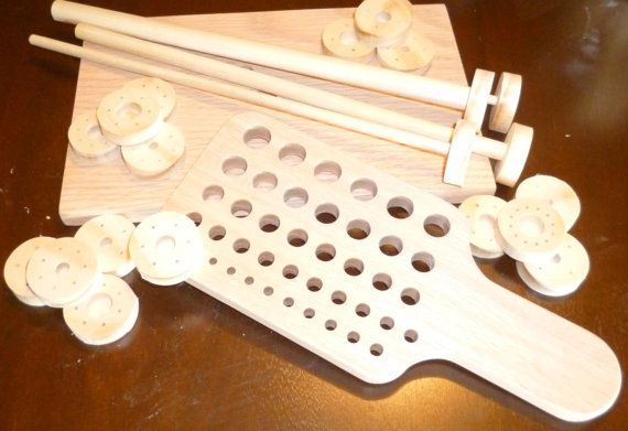Viking Knit Kit, wooden drawplate with 42 holes, Viking knit drawplate, wire chain drawplate, solid oak draw plate,viking knit supplies
