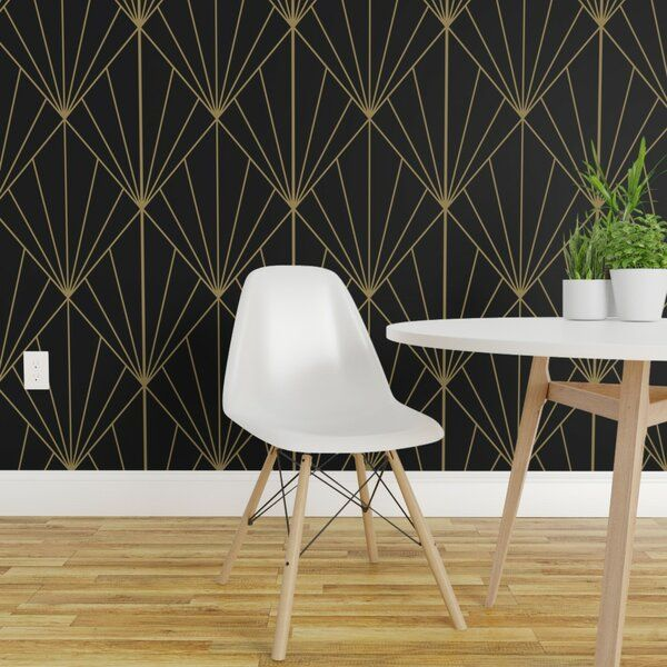 Our Peel And Stick Wallpaper Is A Woven Textured Polyester Fabric With An Adhesive Backing It Is Removable And R In 2020 Removable Wallpaper Black Wallpaper Art Deco