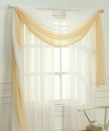 Look what I found on #zulily! White Adielle Sheer Window Scarf #zulilyfinds