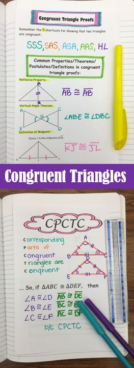 Congruent Triangle Proofs - Notes for interactive notebook. Includes notes on CPCTC