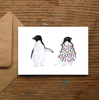 Festive Penguins Christmas Card
