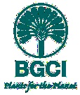 Botanic Gardens Conservation International, Logo - (Wikipedia). Charity established to conserve species of PLANTS that have medicinal uses. Sadly, due to deforestation, our Planet is running the risk of losing  potential cures for such diseases as HIV or Cancer- before they're ever discovered!